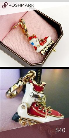 Juicy Couture Roller skate charm Roller skate charm with laces and all, so cute Juicy Couture Jewelry Bracelets