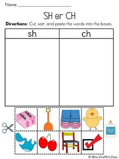 Worksheets Collect The Pictures That Begin Ch And Sh decoding the facts and brother on pinterest