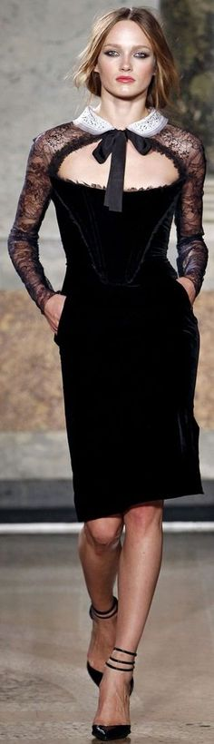 EMILIO PUCCI Fall/Winter 11.12  Black Dress #2dayslook #ramirez701 #BlackDress www.2dayslook.com