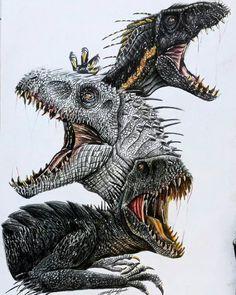 Dinosaur Videos, Dinosaur Time, Dinosaur Art, Jurassic Park 1993, Jurassic Park World, Prehistoric World, Prehistoric Creatures, Indominus Rex, Jurassic World Dinosaurs