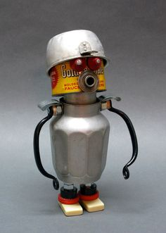 BOOTBOT Found Object Assemblage Sculpture by CastOfCharacters23, $139.00