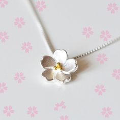 925 Sterling Silver flower necklace for women girl Sakura necklaces & pendants high quality Jewelry hypoallergenic collares  Only $5.22 => Save up to 60% and Free Shipping => Order Now!  #Earrings #Rings #Handmade #Silver Jewelry #Pandora Bracelets #Nature Stone Jewelry #Jewelry #Necklaces #Bracelets