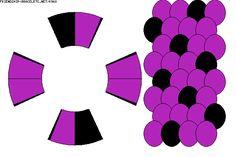 Spots pattern - 8 strings kumihimo