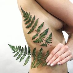 Greenery #floral #tattoos