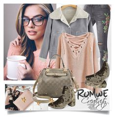 """ROMWE VII/1"" by creativity30 ❤ liked on Polyvore featuring romwe"