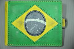 Brazil Brasil World Cup 2014 FIFA in Brazil Wallet, Various Layers in Genuine Leather !! – Nice Day Sports