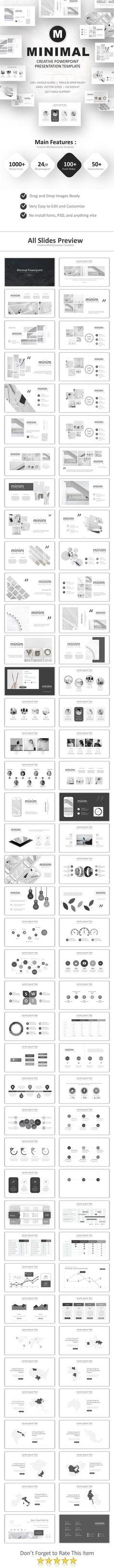 Minimal Powerpoint Template 100+ Unique Slides. Download here: https://graphicriver.net/item/minimal-powerpoint/21913096?ref=ksioks