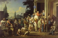 This is George Caleb Bingham's The County Election (1852, in the collection of the St. Louis Art Museum).