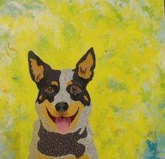 Happy Australian Cattle Dog on a quilt!...Reminds me of my beloved Jake...R.I.P., old boy.....vwr