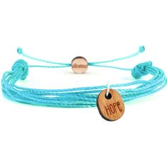 Domo Beads Mantra String Retractable Bracelet | Hope ($16) ❤ liked on Polyvore featuring jewelry, bracelets, turquoise, pendant jewelry, cherry jewelry, turquoise jewelry, turquoise bangle and string jewelry