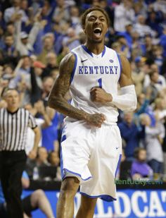 Young celebrates after OT win against LSU. | Kentucky.com