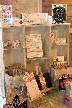 Craft show stationery & card displays - www.creativedestiny.ca