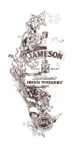 Jameson Whiskey, Label Design for St. Patricks Day 2013 « David Smith – Traditional Ornamental Glass Artist