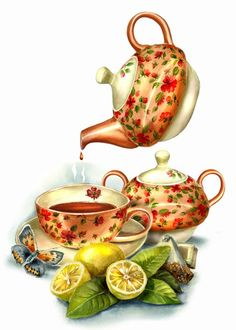 Good Afternoon everyone xxx❤❤❤💌🍀❄🍀 Decoupage Vintage, Decoupage Paper, Vintage Diy, Vintage Paper, Decoupage Glass, Vintage Teacups, Et Wallpaper, Tee Kunst, Cuppa Tea