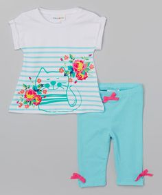 Another great find on #zulily! Blue Radiance Top & Capri Leggings - Infant #zulilyfinds