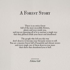 A Forest Story ~ Nikita Gill #poetry #writing