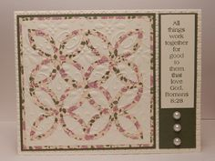 quilt card using the Stampin' Up! lattice die with printed paper ... pretty layout to finish off the card ...