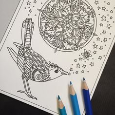 Pic from my new postcardbook Vinterdrömmar (Winterdreams). It contains 20 postcards that you can color and send to a friend or frame. Or send the cards just like they are black and white and let the recipient color it instead! And to all of you asking no sorry there wont be a big coloringbook with a winter theme this is it. #vinterdrömmar #målarbok #hannakarlzon #coloring #coloringbook #coloringforadults  #paginaförlag Use the link in my profile to order my books or if you live outside of…