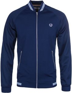 Fred Perry X Bradley Wiggins French Navy Texture Mix Track Jacket