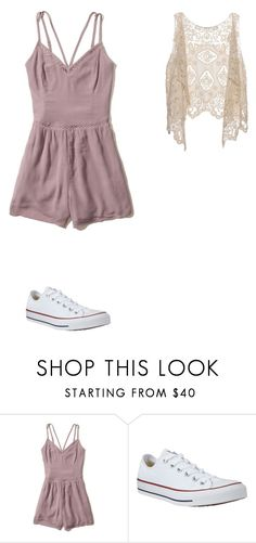 """romper #2"" by ottoca ❤ liked on Polyvore featuring Hollister Co. and Converse"