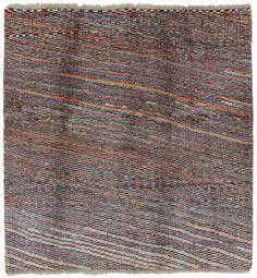 Gabbeh - Qashqai Persian Carpet 130x126 - CarpetU2