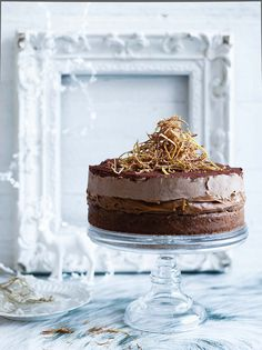 Photographer: Ben Dearnley Ginger Cake with Chocolate Mousse
