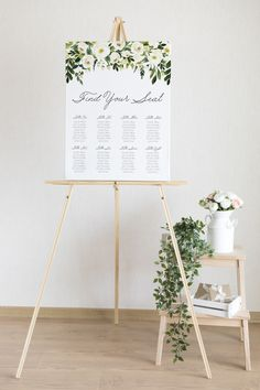 Greenery Wedding Welcome Sign, Printable Wedding Sign Template, Editable Wedding Reception Sign Decor 1st Birthday Signs, First Birthday Posters, Seating Chart Wedding, Seating Charts, Wedding Welcome Signs, Wedding Signs, Personalized Signs, Personalized Wedding, Ceremony Signs