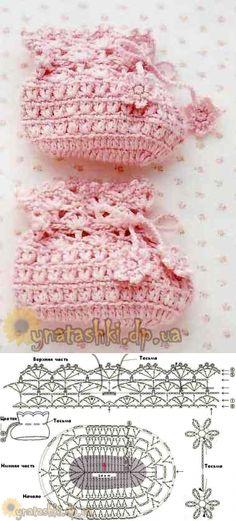 Нежные пинетки крючком Booties Crochet, Crochet Baby Shoes, Crochet Baby Booties, Knitting For Kids, Baby Knitting, Crochet Patron, Crochet Purses, Crochet Accessories, Kid Shoes