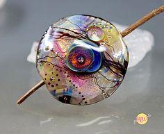 Murano Glass Lampwork BeadSunset  Focal Bead handmade by