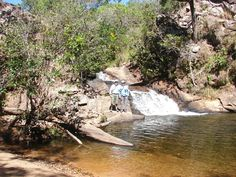 Cachoeira da Prainha. Geoparque Chapada dos Guimarães - Mato Grosso. GEOSSÍTIO 2: ROTA DAS CACHOEIRAS.