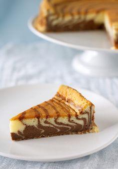 Zebra Striped Japanese Cheesecake