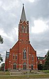 St. Vincent DePaul Catholic Church, Convent, and School; built in 1885; Pontiac, MI