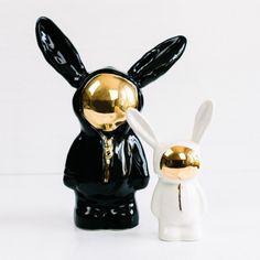 Space Bunny in Schwarz, Sootcookie