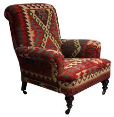 Vintage  Kilim Chair Wingback Chair, Armchair, Hanging Chair From Ceiling, Vintage Chairs, Accent Chairs, Furniture, Home Decor, Womb Chair, Upholstered Chairs