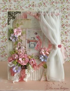 Tips for Looking Your Best on Your Wedding Day is part of Cards handmade - Shabby Chic Karten, Shabby Chic Cards, Flower Cards, Paper Flowers, Diy And Crafts, Paper Crafts, Window Cards, Beautiful Handmade Cards, Mothers Day Cards