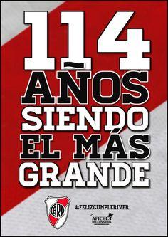 Felices 114 años de vida al club más grande y hermoso de todos   Felices114RiverPlate Club b0258319d33