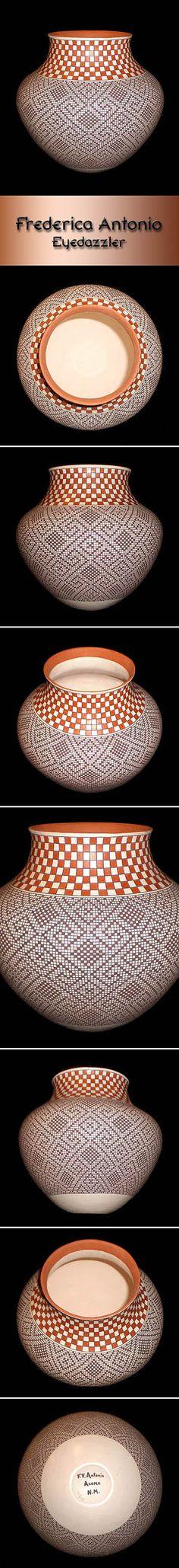 Pueblo Pottery by Frederica Antonio (Acoma) - Eyedazzler