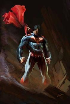 Superman …everything started with him. Tomorrow you'll see how a mustache changes the man of steel into a man of iron. Superman Artwork, Superman Family, Superman Man Of Steel, Superman Wonder Woman, Batman Vs Superman, Marvel Dc Comics, Hero Marvel, Dc Comics Art, Clark Kent