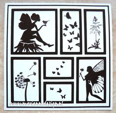Fairies in black and white Marianne Design Cards, Lavinia Stamps, Card Io, Artist Trading Cards, Shadow Box, Framed Art, Gallery Wall, Card Making, Layout