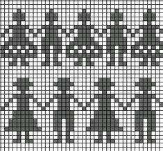 СХЕМЫ ЖАККАРДОВЫХ УЗОРОВ. Обсуждение на LiveInternet - Российский Сервис Онлайн-Дневников Knitting Stiches, Knitting Charts, Baby Knitting, Knitting Patterns, Graph Design, Chart Design, Cross Stitch Borders, Cross Stitch Patterns, Fair Isle Chart