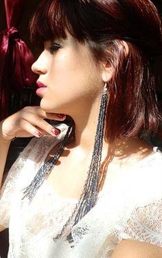 Long beaded duster #earrings #tutorial