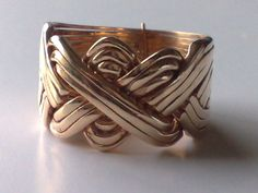 12 Band Bronze Turkish Puzzle Ring - Sizes 9-14 #Dimenticare #Band