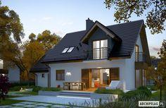 Projekty domów ARCHIPELAG - Marisa V G1 ENERGO House Roof, Home Fashion, Future House, Ideas Para, Gazebo, Cabin, House Design, Mansions, House Styles