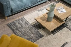 Carpet Vivaldo with white and grey blocks!