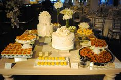 desserts and wedding cakes table
