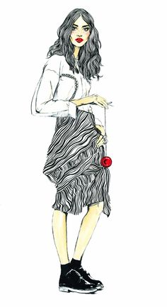 Daily sketches by me. Fashion illustrations. Editorial illustrations.