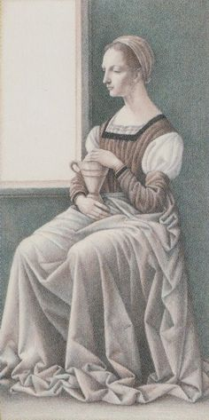 Queen of Cups - Leonardo Da Vinci Tatot by A. Atanassov, Iassen Ghiuselev