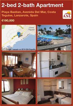 2-bed 2-bath Apartment in Playa Bastian, Avenida Del Mar, Costa Teguise, Lanzarote, Spain ►€190,000 #PropertyForSaleInSpain