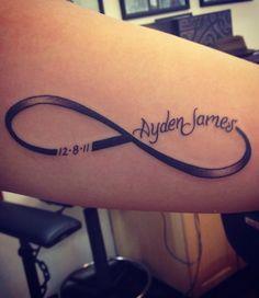 name tattoo infinity