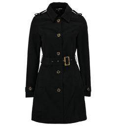 Trench-coat ceinturé Avant Premiere en noir pour femme - Galeries Lafayette